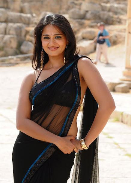 Anushka Shetty latest photo, Anushka Shetty in transparent saree