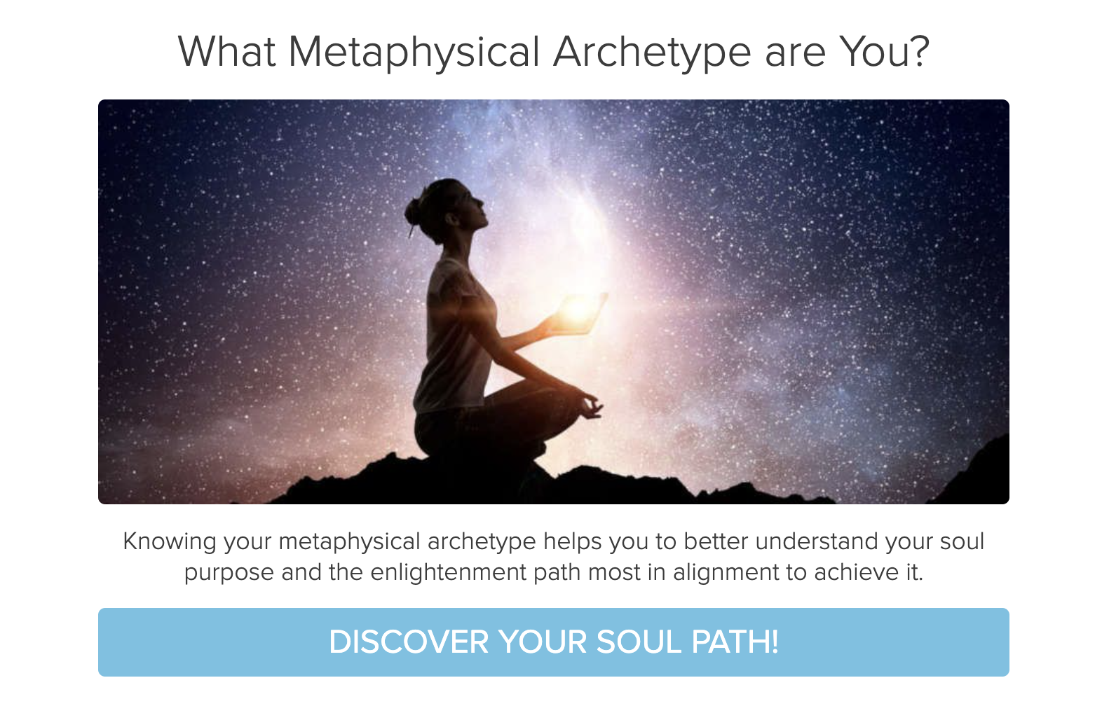What metaphysical archetype are you