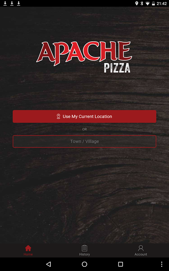 Apache Pizza App- screenshot