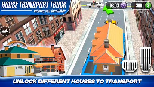 House Transport Truck Moving Van Simulator 1.0 screenshots 6