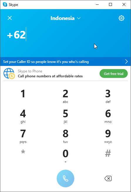 thumbapps.org Skype portable, Dial