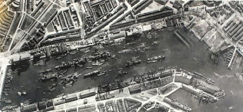 Photo: [1933 ©-verzameling Gemeentearchief Rotterdam CAT III 163.03 B] - http://www.gemeentearchief.rotterdam.nl - uit eerdergenoemde kaart hier de Maashaven en detail.