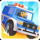 Dinosaur Police Car icon