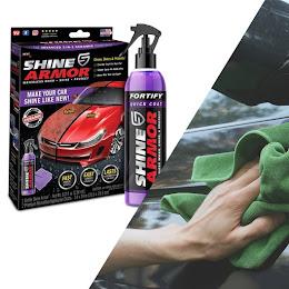 Kit ceara lichida Shine Armor Ceramic Wax, 236 ml + Laveta din microfibra