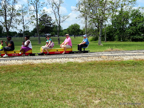 Photo: Conductor Mary Lou Pasley at Lakeside at 12:03 PM.     HALS Public Run Day 2014-0419 RPW