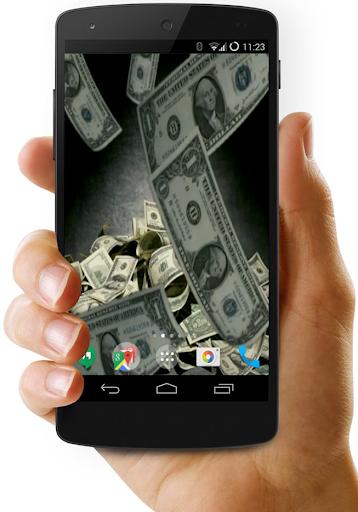 Falling Dollars 3D Wallpaper