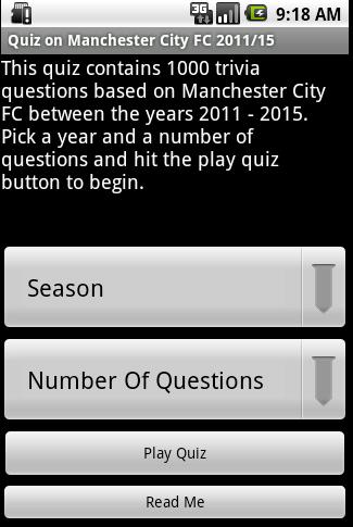 Quiz about Manchester City FC