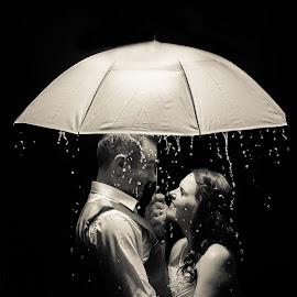 Rainy Night by Nici Pelser - Wedding Bride & Groom