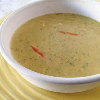 Gluten-Free Cheesy Broccoli Soup.