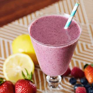Yogurt Berry Smoothie.