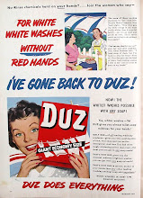 Photo: I think DUZ must have been one of the most popular laundry detergents in the 50's.