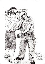 Photo: 檢身2012.06.30鋼筆 腳張開 手抱頭 違禁品 交出來 要通過 先檢身
