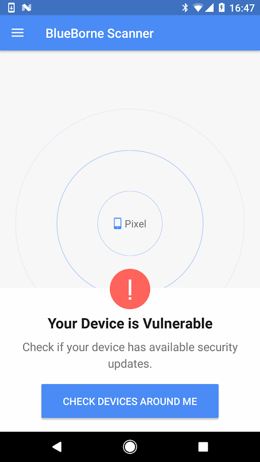 BlueBorne Vulnerability Scanner by Armis- screenshot