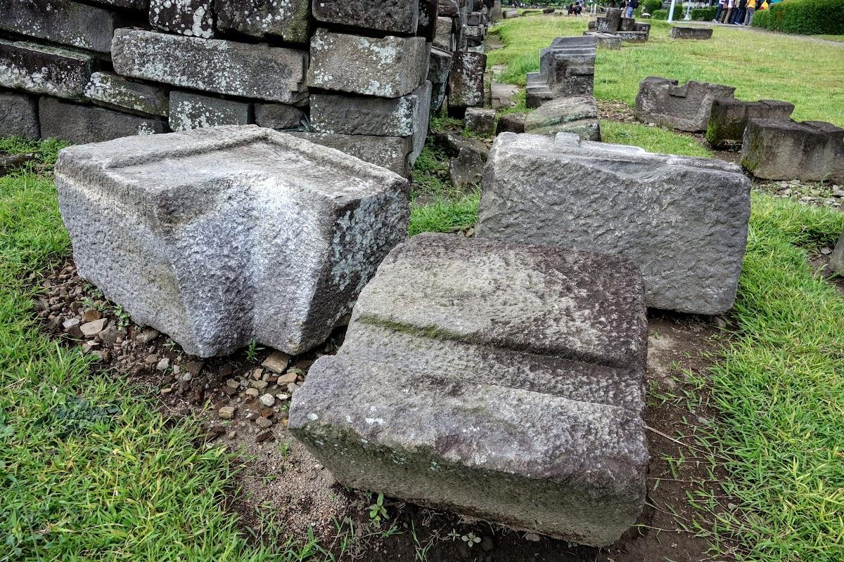 Indonesia. Yogyarkarta Pramantan Temple. Corner Stones