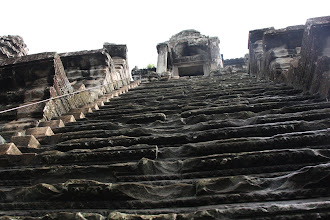 Photo: Year 2 Day 44 -  Very Steep Stairs to Gain Entrnace to Inner Sanctuary