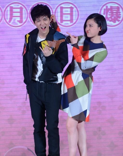 Luhan at Miss Granny press con