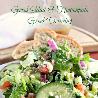 Greek Salad and Homemade Greek Dressing