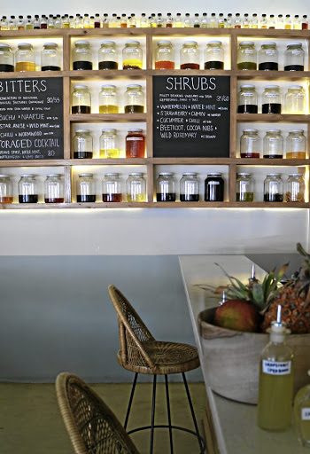 One of a kind: The Botanical Bar in Cape Town blends tinctures, bitters, syrups, vermouths and shrubs created from local produce to excite the palate. Picture: SUPPLIED