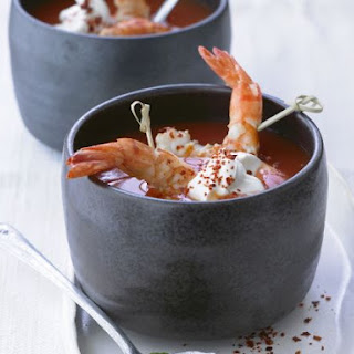 Spiced Tomato Soup with Shrimp