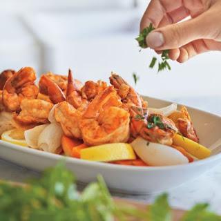 Cajun Style Steamed Shrimp.