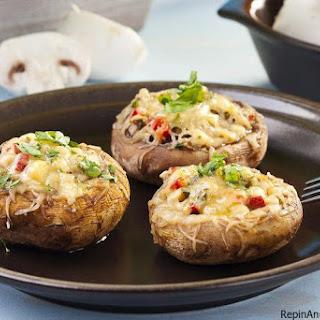 Cheese and Garlic Stuffed Mushrooms