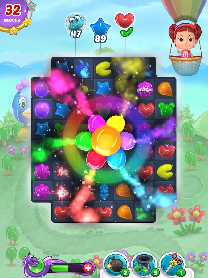 Balloon paradise free match 3 puzzle game android apps for Free balloon games