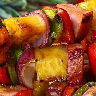Grilled Hawaiian Ham Kabobs.
