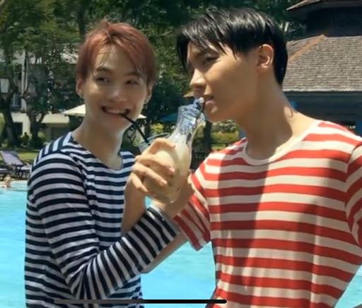 Suga and jhope doing love shot