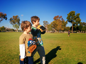 Photo: Brothers Play Baseball