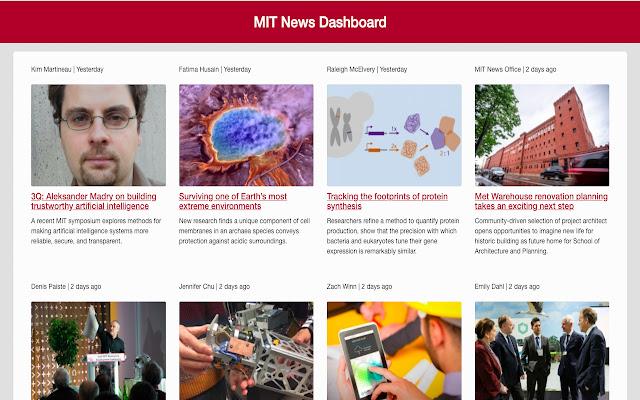 MIT News Dashboard