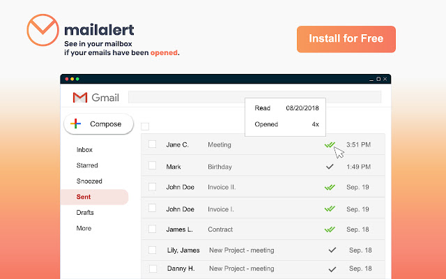 Free Email Tracking for Gmail - Mailalert