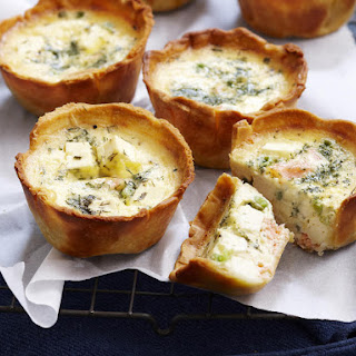 Salmon and Pea Quiches