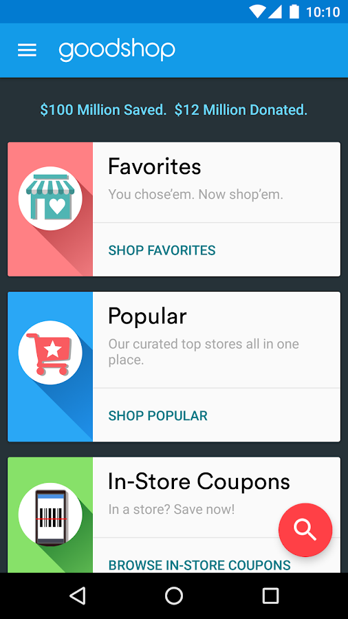 Goodshop Coupons- screenshot