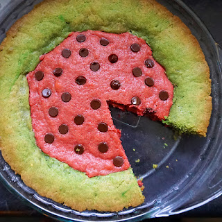 Spumoni Blondies (watermelon-shaped!)