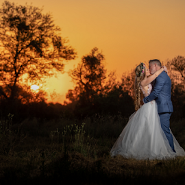 Sunset by Lood Goosen (LWG Photo) - Wedding Bride & Groom ( bride, wedding dress, wedding photography packages, groom, wedding photographer, wedding photography, bride groom, weddings, wedding day, wedding photographers, brides, lwg photo, lood goosen, wedding photographers pretoria, sunset, best wedding photographers, wedding photographer gauteng, wedding )