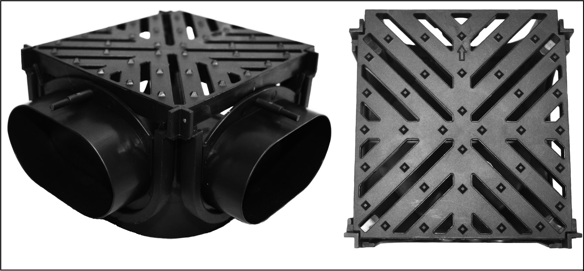10 x 110mm Adaptors for Shallow Drainage Channel Heavy Duty Easy Flow