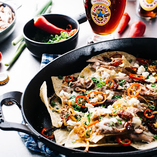 Newcastle Brown Ale Pulled Duck Nachos