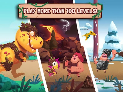 Dino Bash - Dinos v Cavemen- screenshot thumbnail