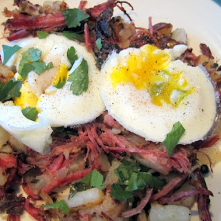 Corned Beef Hash and Poached Eggs
