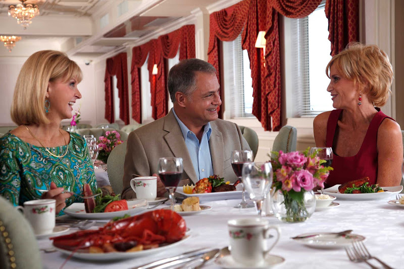 Guests will enjoy local dishes paired with wines in the dining room aboard your American Cruise Lines sailing.