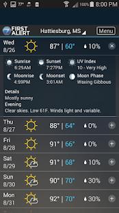 WDAM 7 Hattiesburg Weather- screenshot thumbnail