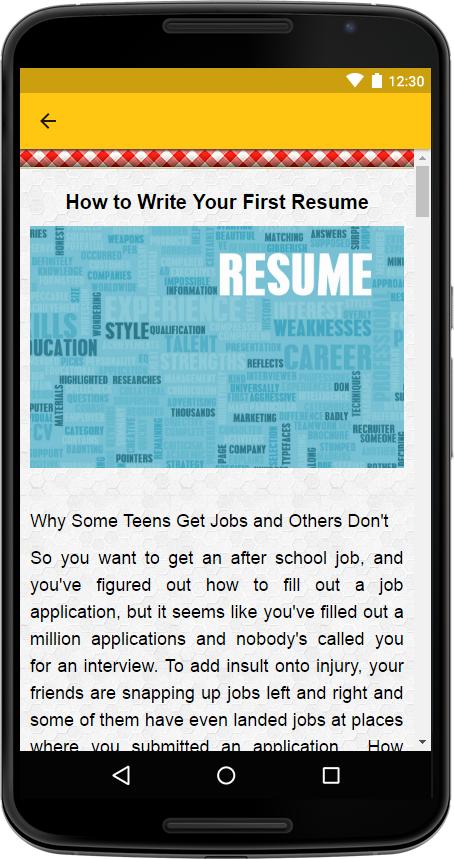 creative resume screenshot