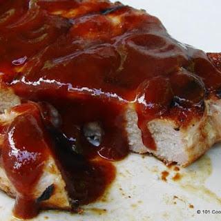 Grilled BBQ Pork Chops.