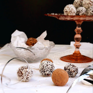 Chocolate Coconut Date Truffles