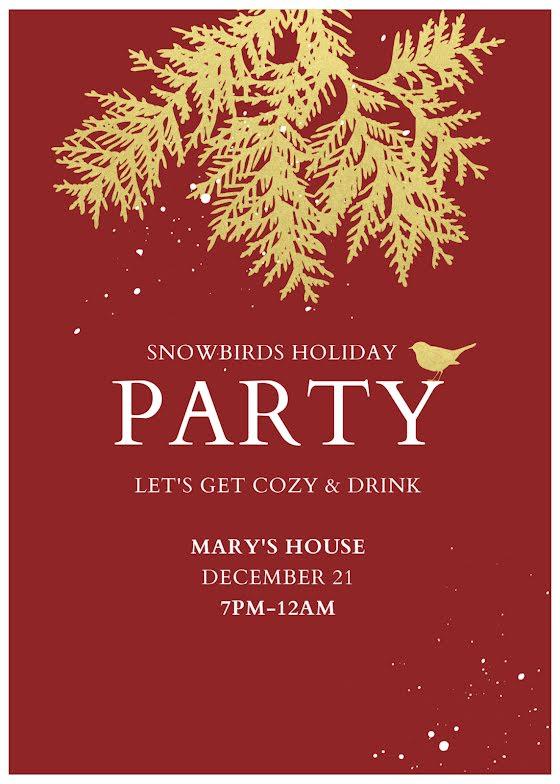 Snowbirds Holiday Party - Christmas Card Template