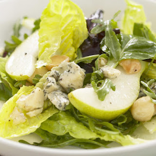 Blue Cheese, Pear and Macadamia Salad.