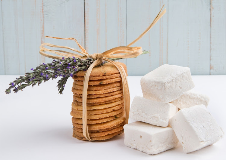 Package homemade marshmallows with biscuits and a slab of chocolate to make a fun smore kit.