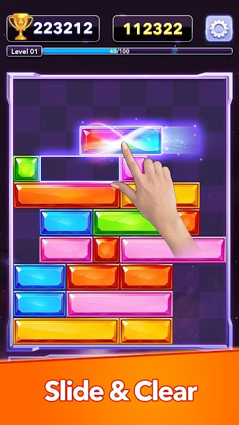 Jewel Sliding™ - Falling Puzzle, Slide Puzzle Game Android App Screenshot