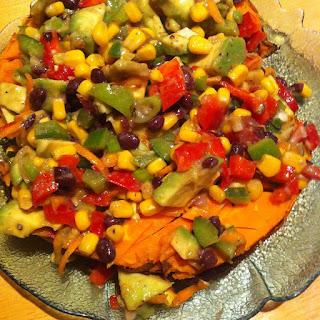 Baked Sweet Potato & Avocado Salsa