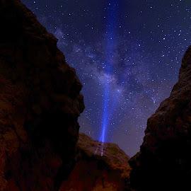Lightning the sky by Al Mamun Abdullah - Digital Art Places ( mountain, sky, lighting, night photography, stars, night, galaxy, milky way )
